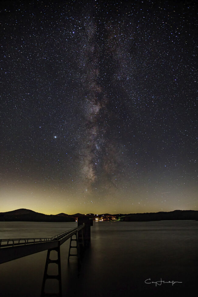 Milky Way above Nottely Dam, near Blairsville, Georgia.